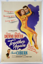 TOGETHER AGAIN - 1 SHEET LINEN POSTER  - 1944 - IRENE DUNNE - CHARLES BOYER