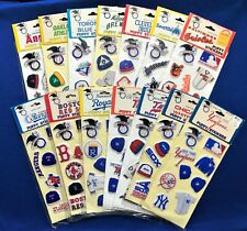 1983 IMPERIAL TOY COMPLETE A.L. SET 14 PUFFY STICKERS ROYALS TWINS YANKEES A'S +