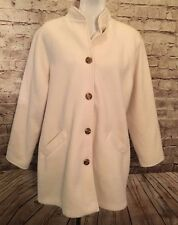 82a333800ff BLAIR Vintage Ladies Coat Jacket Winter White w  Gold Button Front Women s  ...