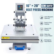 Semi Auto Clamshell Heat Press Machine With 16x20 Heat Pad Slide Out Base 1600w