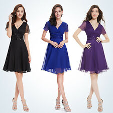 Cheap V-neck Short Bridesmaid Chiffon Party Dress Cocktail Prom Homecoming 03882