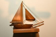Nautical, Hand Made Wood Sailboat Sculpture