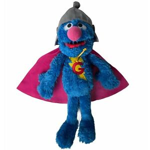 """Sesame Street Talking Super Grover Plush Stuffed Monster 15"""" Hasbro 2010 Toy"""