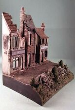 Milicast DBS06 1/76 Resin Base Set with 3 Ruined Houses