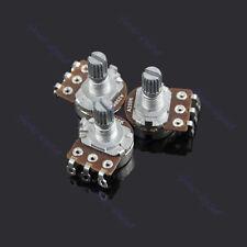 New A250k Split Shaft Guitar Potentiometer Pots Audio Tone Switch Control 3 Pcs