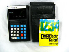 Vintage calculator ELITE  4000 M + case  + manual  in working condition