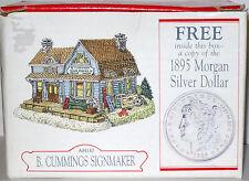 MIB 1997 LIBERTY FALLS B. CUMMINGS SIGNMAKER & 1895 MORGAN SILVER DOLLAR AH130
