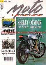 MOTO LEGENDE  24 HARLEY DAVIDSON 1200 Panhead SEELEY 500 Condor Sammy MILLER