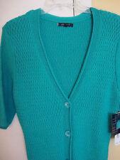 New Womens Anne Klein Deep Sea Green Sweater Dress Size Medium