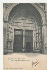 Toledo Catedral Puerta del Reloj 1904 Postcard Spain  242a
