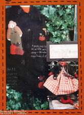 "Halloween Applique pattern 16"" primitive pumpkin doll Country Stitches"