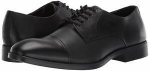 Calvin Klein Men's Shoes Conner Oxford Dress Calf Small Grid Black F2013