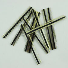 10PCS 2.54mm 2 x 40 Pin Male Double Row Pin Header Strip GOOD QUALITY