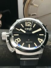 U-BOAT Classico Calibro 45mm STAINLESS Steel Swiss Automatic Movement 100m Black