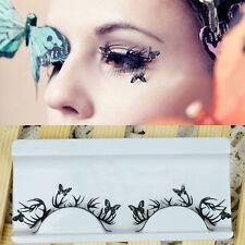 Luxury Cutting Royal Eye Paper Flower False Eyelashes Butterfly Art Stickers