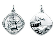 Solid Sterling Silver St Christopher Pendant Choice Of Necklace Chains