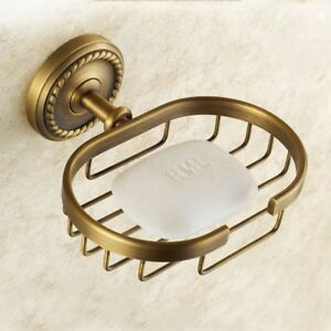 Bathroom Accessory Wall Mounted Antique Bronze Soap Dish Holder Basket ZD633