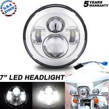"""7"""" LED Chrome Headlight For for Harley Touring Yamaha V-Star 650 950 1100 1300"""