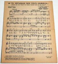 Partition vintage sheet music EMILE FORD & THE CHECKMATES : What Do You * 50's