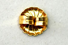 14K Solid Yellow Gold Single Earring Back Finding  9.5 mm