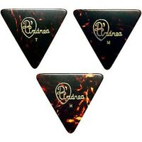 D'Andrea 355 Triangle Celluloid Guitar Picks One Dozen Shell Thin, Medium, Heavy
