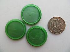 1950s Vintage Med Rimmed Green Bakelite Coat Jacket Cape Buttons-28mm