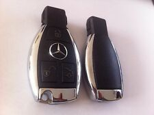 1x Mercedes Benz Remoto Clave Fob 3 Botón Cromo
