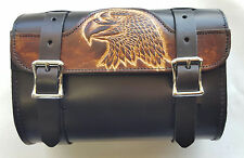 Genuine Leather Brown & Black Motorcycle Tool Bag - American Made - Eagle