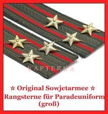 Original Russische Rote Sowjet Armee Offizier Rangsterne (gross) Parade-Uniform