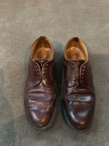 Loake Mens Shoes 1980's Brogue's Size 12 Burgundy