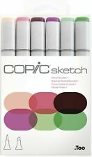 COPIC SKETCH MARKERS FLORAL FAVORITES 1 - 6 PIECE SET - NEW