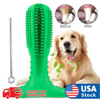 Dog Toothbrush Chew bite Toy Dental oral Care Brush Stick Natural Rubber pet FDA