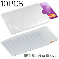 10 x RFID Blocking Sleeve Credit Card Protector Bank Card Holder for Wallets