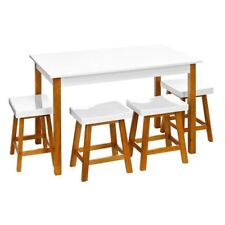 Wooden Living Room Table & Chair Sets with 5 Pieces