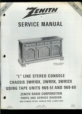 Factory Zenith L Line 3WR10X 3WR11X 3WR12X Stereo Radio Console Service Manual