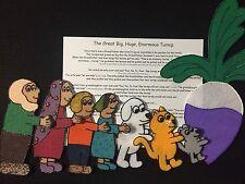 "Felt/ Flannel Board Story  ""The Great Big, Huge Turnip "" Preschool Circle Time"