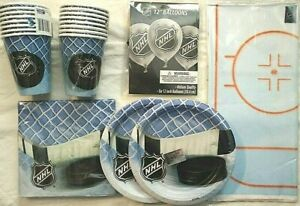 NHL Hockey Birthday Party Supply Decoration Kit Pack for 16 w/Balloons