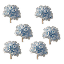 Craft Flowers QTY 72 - Poly Rosebuds - Blue/Blue