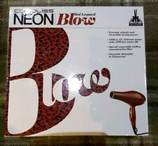 BNIB Corioliss Neon Blow Red Leopard Leading Beauty Technology Salon Hair Dryer