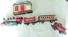 Christmas Dickensville 1989 Train Set With Train Station and 4 Cars Vintage
