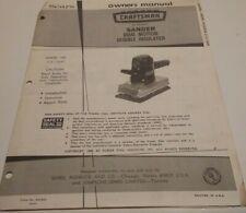 Craftsman Sander Manual 315.11640