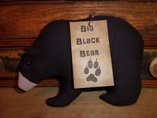Primitive Black Bear Folk Art Bowl Filler Ornies Rustic Country Style Prim Decor