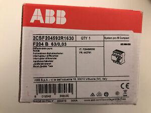 ABB F204B 4p 63A/0,03A F204 B Typ B Allstromsensitiv FI-Schutzschalter