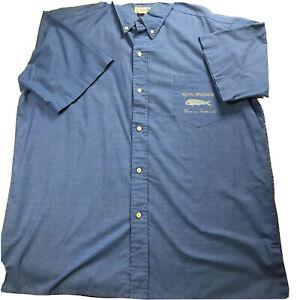 Reyn Spooner Hawaiian Traditions Men's XXL Short Sleeve Button Up Shirt Blue