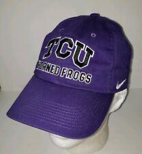 Tcu Horned Frogs purple Cotton Adjustable Logo Cap Hat. Nike
