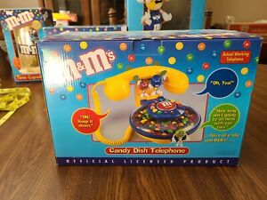 VINTAGE M&M Candy Dish Corded Telephone Phone Collectible NOS