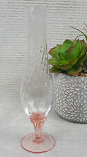 "10"" Clear Twisted Glass Vase w/Orange Tinted Base Danish Design made In italy"