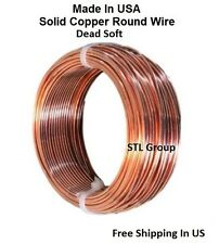 14 AWG Bare Solid Copper Round Wire 80 Ft Coil / Annealed