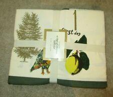 "New 2012 WILLIAMS SONOMA TWELVE DAYS OF CHRISTMAS TABLECLOTH 70 x 90"""