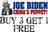 "Joe Biden ""China's Puppet"" Anti Joe Biden AUTO MAGNET rigged election Biden"